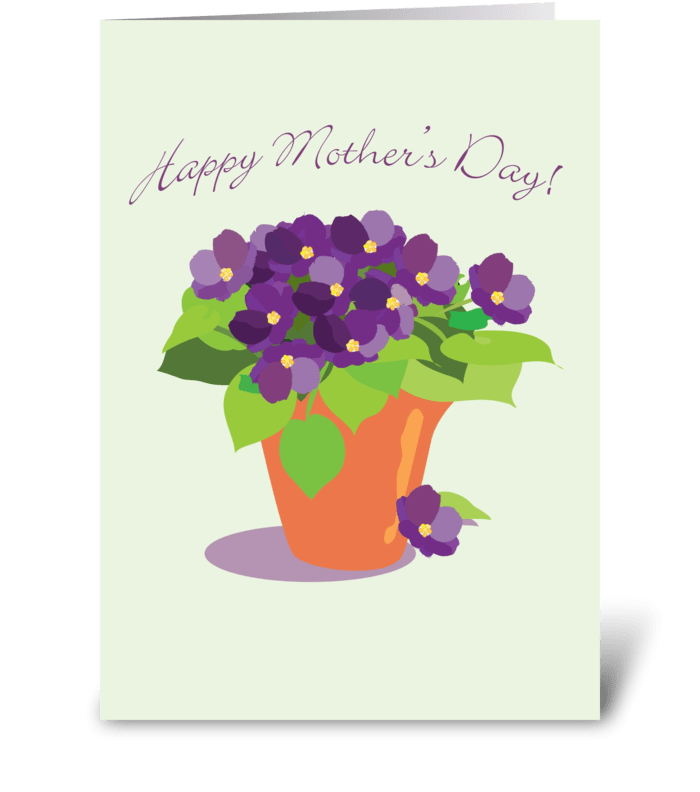 Violets for Mom greeting card