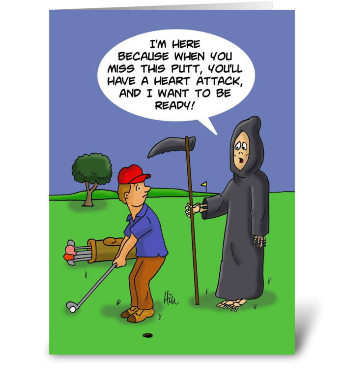 Birthday card with grim reaper to golfer send this greeting card birthday card with grim reaper to golfer greeting card m4hsunfo