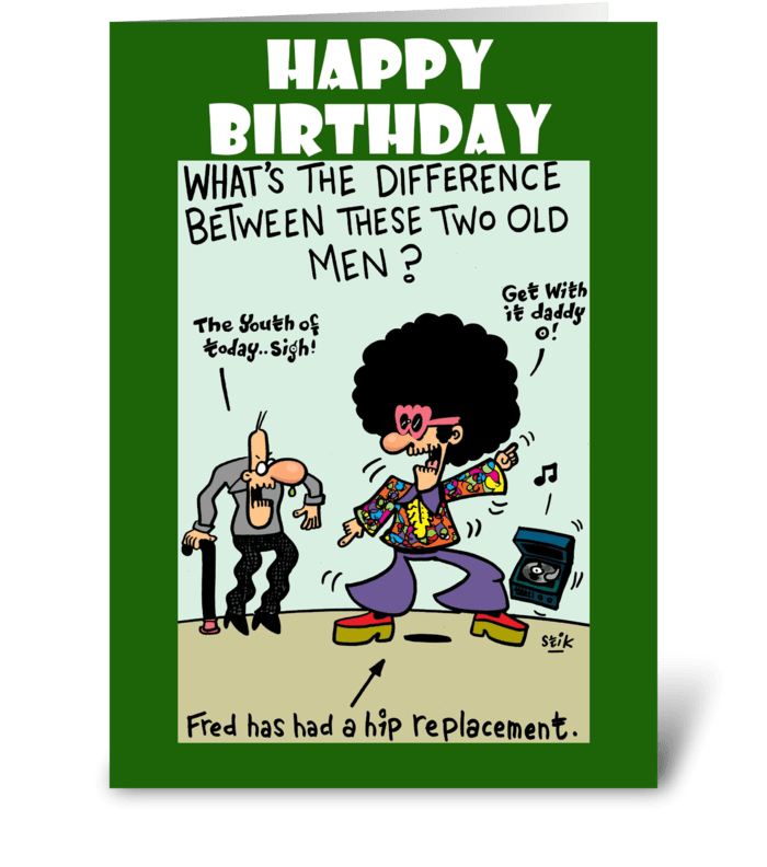 Hip Replacement Birthday card greeting card