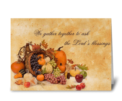 We Gather Together greeting card