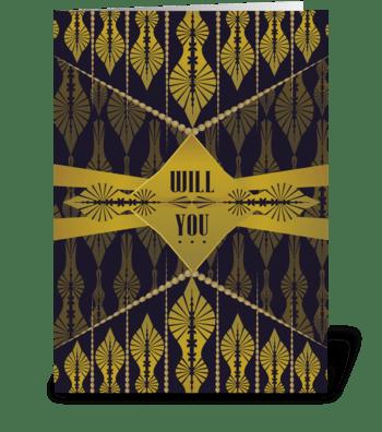 Deco Drop - Bridesmaid Invite greeting card
