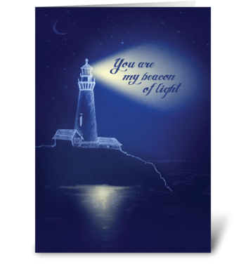 Beacon of Light Card greeting card