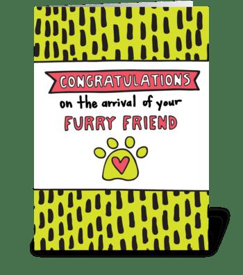 Congratulations New Pet greeting card