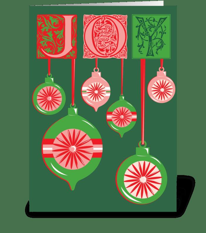 Holiday Joy greeting card