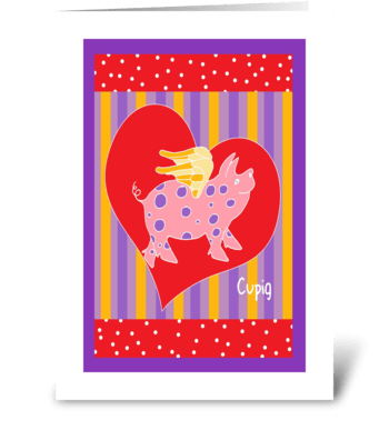 Valentine Cupig greeting card