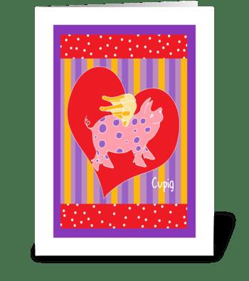 Valentine Cupig greeting card