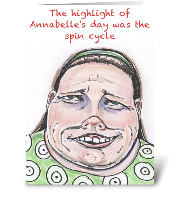 Annabelle greeting card