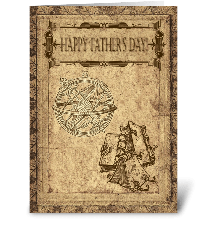 Happy Father's Day - Antique Parchment  greeting card