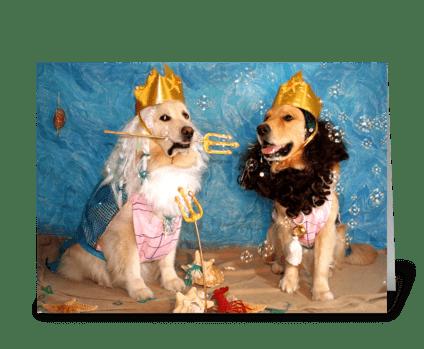 Poseidon and Triton Birthday greeting card