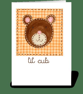 Lil Cub greeting card