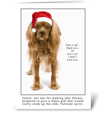 Yuletide Spirit greeting card