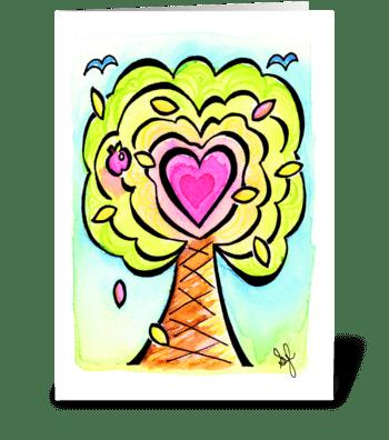Birthday Heart Treat  greeting card