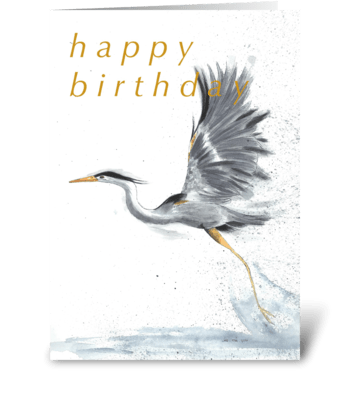 Take Off greeting card
