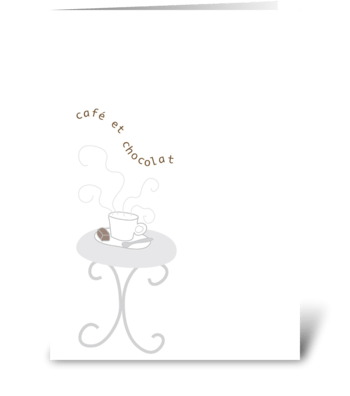 Oo-La-La - Café et Chocolat greeting card