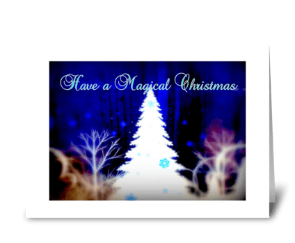 Have a Magical Christmas greeting card