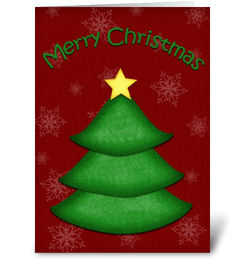 Christmas Tree Greeting greeting card