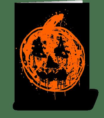Jack-O-Lantern greeting card