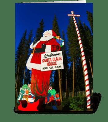 Santa Claus in North Pole, Alaska greeting card