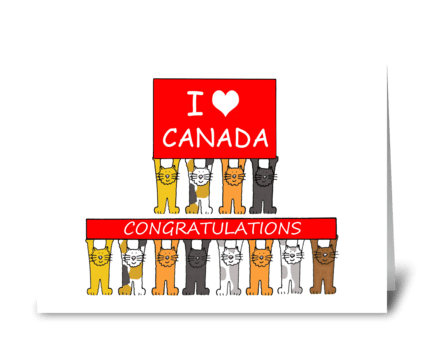 Canadian Citizenship Congratulations. greeting card