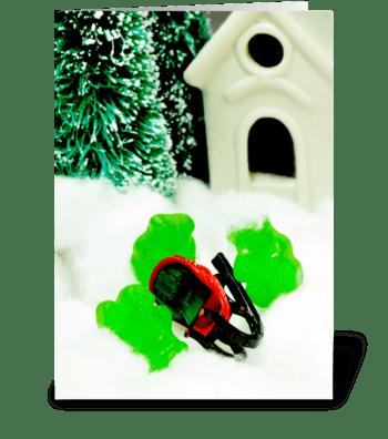 Gummy Sleigh Ride greeting card