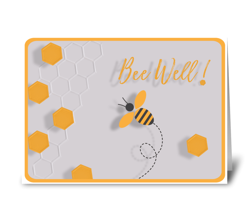Bee Well greeting card
