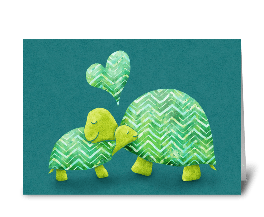 Turtle Hugs greeting card
