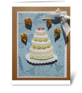Wedding occasion greeting card