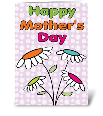 Mother's Day Daisies greeting card