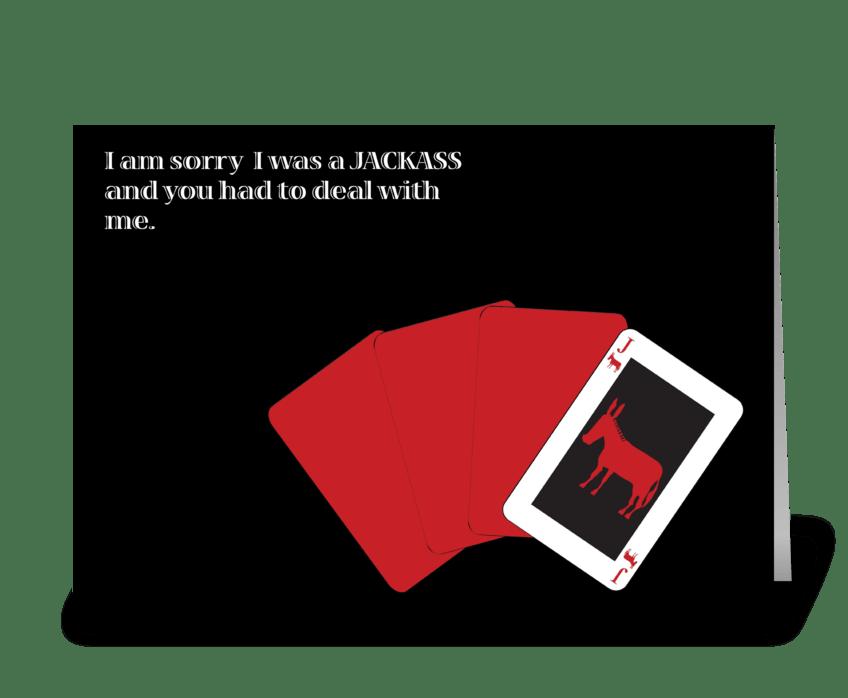 JackASS greeting card