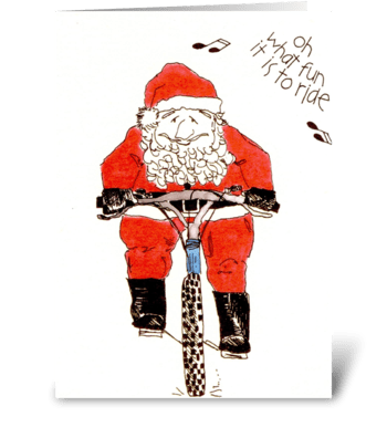 oh what fun it is to ride greeting card
