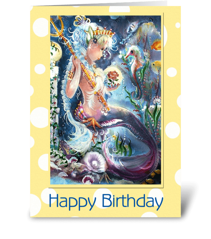 Little Mis Neptune, Birthday greeting card