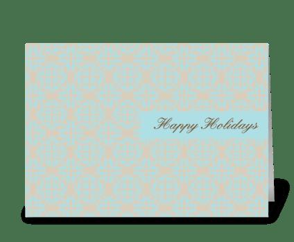 Wallpaper Holidays greeting card