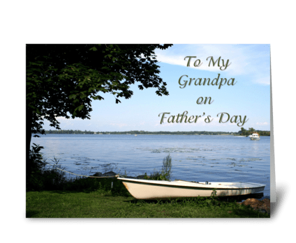 Peaceful Lake Father's Day Card greeting card