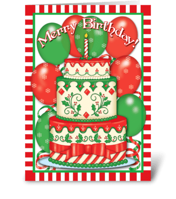 Merry Birthday! greeting card