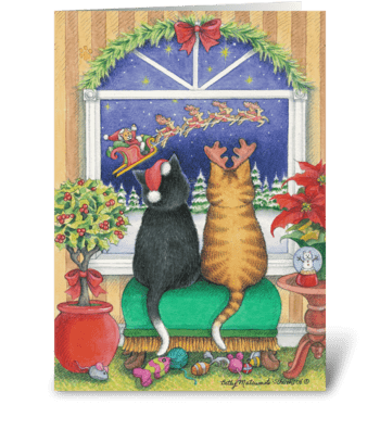 Happy Holiday St. Kitty #36 greeting card