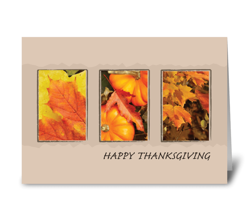 2801 Three Leave Thanksgiving greeting card