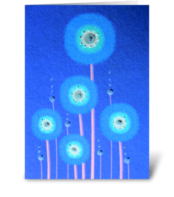 Carte Bleue greeting card
