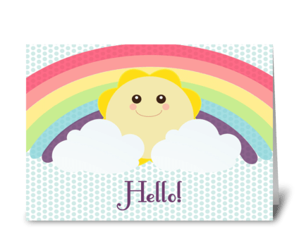 Hello Sunshine! greeting card