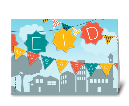 Eid In The Neighborhood greeting card