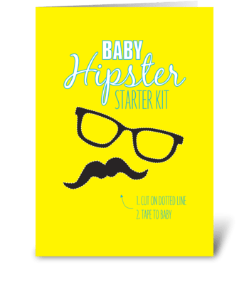Baby Hipster greeting card