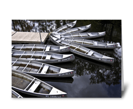 Canoes In Michigan greeting card