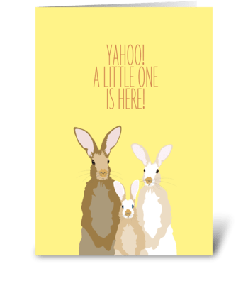 Baby Rabbit greeting card
