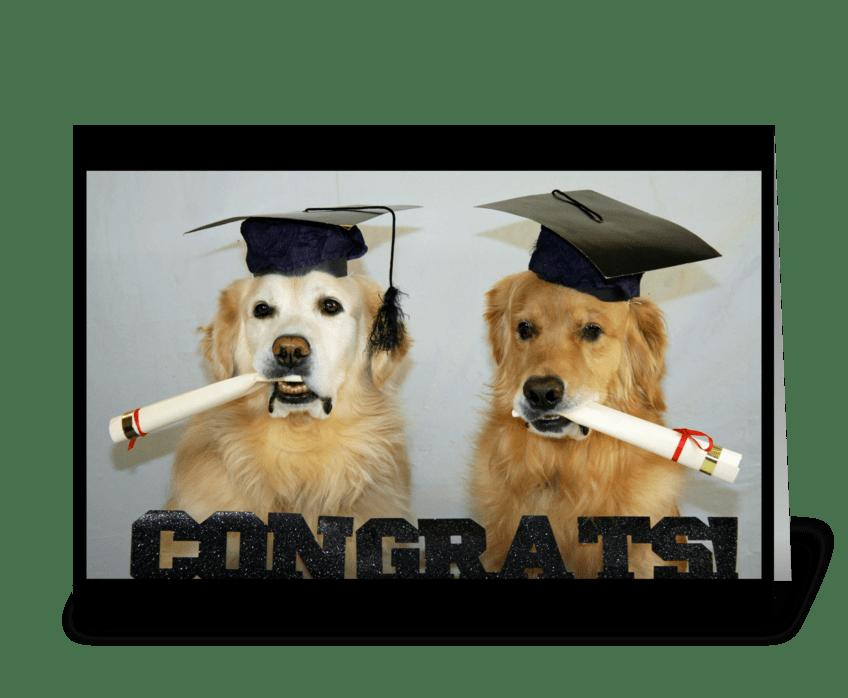 Congrats Grads greeting card