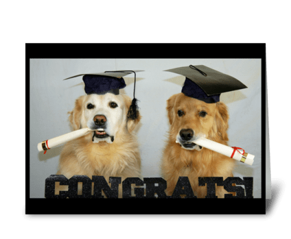 Congrats Grads greeting card