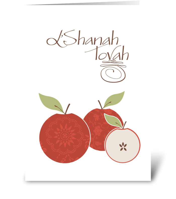 Rosh Hashanah - Apples greeting card
