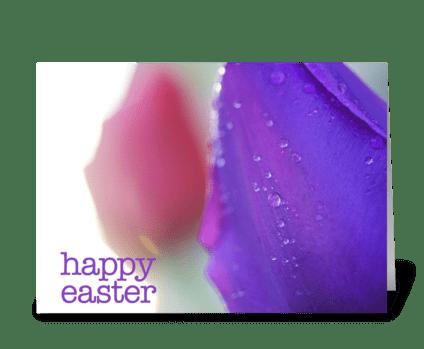 Happy Easter (Purple Tulip) greeting card