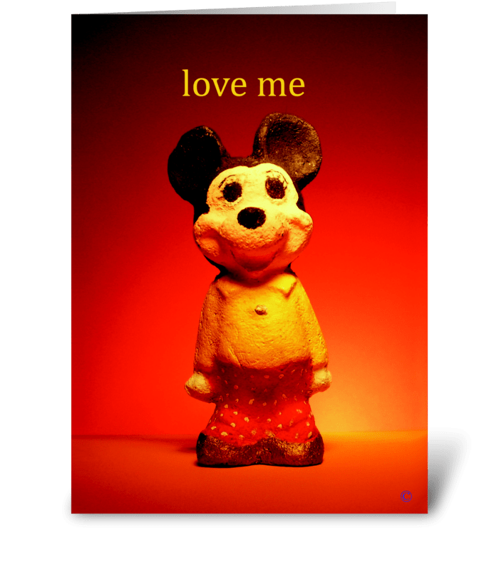 Love Me greeting card