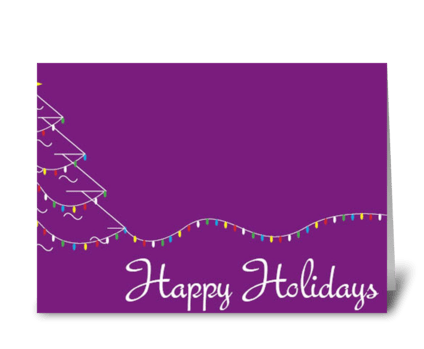 Light up the Holidays! greeting card