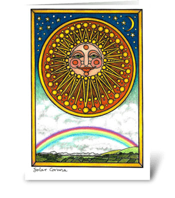 Solar Corona greeting card