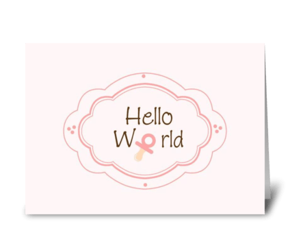 Birth Annoucement greeting card
